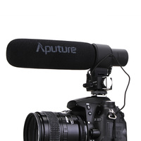 Newest!! Aputure V-Mic D2 Sensitivity Adjustable Directional Condenser Shotgun Microphone for Nikon Canon Sony Pentax with gift