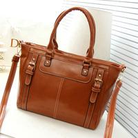 2014 new vintage wax leather fashion casual handbags women handbag shoulder bag Messenger bags women high quality free shipping