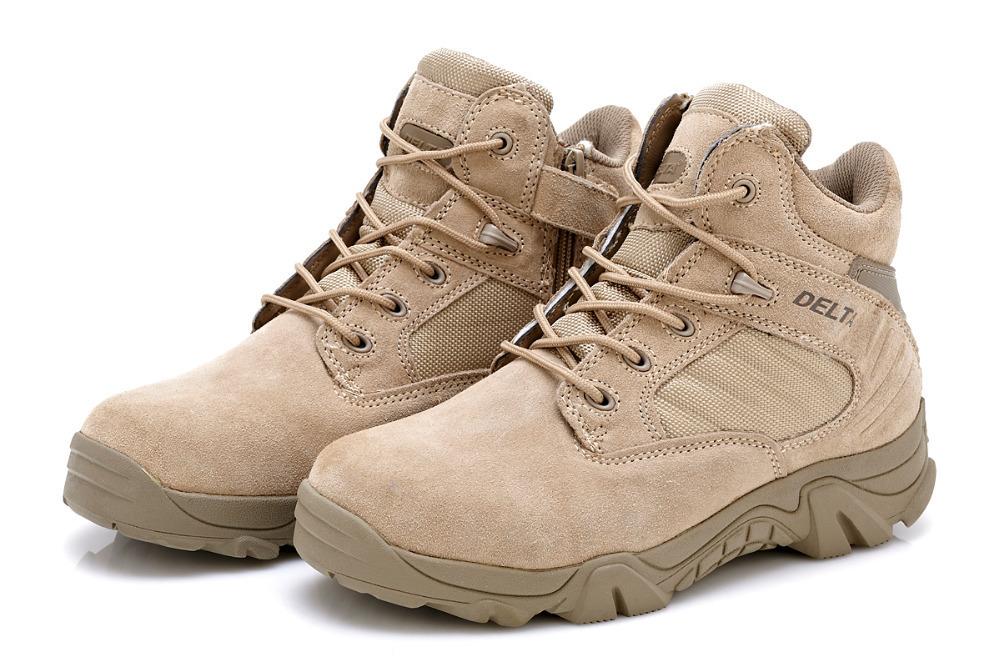 Homens das forças especiais botas militares deserto tático botas de combate caminhadas ao ar livre sapatos de neve botas infantaria inverno especiais botas(China (Mainland))