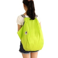 F10012/15 Portable Foldable Lightweight Assorted Color Travel Backpack / Shoulders Bag Storage Back Pack Green + Free Shipping
