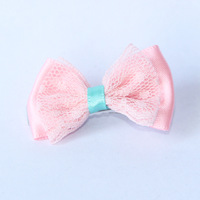 1 pc Pet Accessories Double Pink Bow Dog Hair Pet Hairpin Headdress Flower Drop Shipping V1140