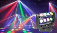 Beam Led Moving Head Light Double Head  RGBW quad color LED Spider Light