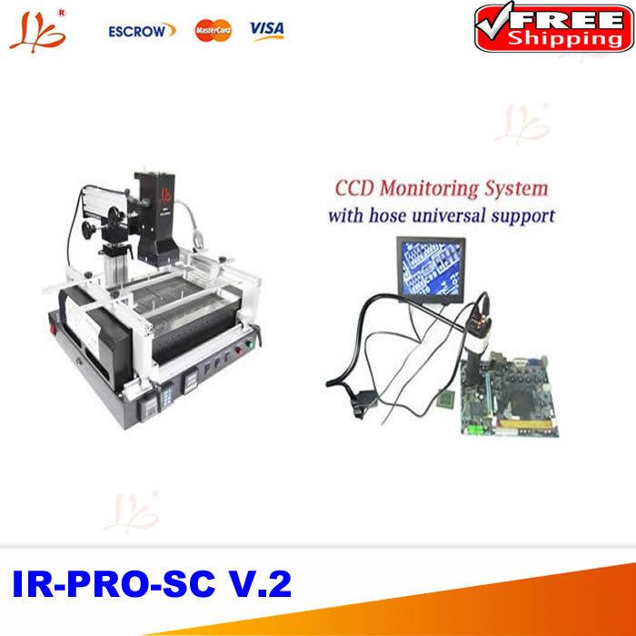 Free shipping Infrared BGA station repair system + CCD camera supervising system with 8'' monitor(China (Mainland))