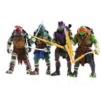 2014 New Teenage Mutant Ninja Turtles Movies toys Action Figure TMNT 4pcs/set Collection Toys doll