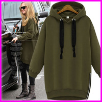 2014 Women Hoodies Fashion Fleece Pullovers for Women Autumn Winter Coat Long Sleeve Sweatshirts for Lady Hoody Loose XXL