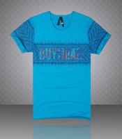 Mens summer fashion men's short-sleeved t-shirt printing large size men's t-shirt Slim