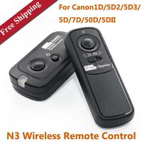 Pixel RW-221 N3 Wireless Remote Control SLR Cameras Wireless Shutter for Canon 1D 5D2 5D3 5D 7D 50D 5DII