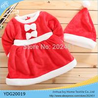Christmas Season Fleece  Baby Coat  Christmas Girl Dress Winter Coat  Kids Clothing