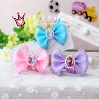 Frozen Princess Bowknot Hair Band With Lace 10 pcs Wholesale