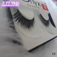 Free shipping 2014 hot sale 1Pairs/lot fashion natural long thick hand make High quality false eyelashes charming fake eyelashes