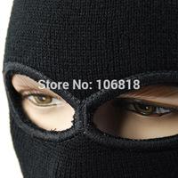 Custom 3 Holes Full Face Mask Helmet Facemask Knit Balaclava Neck Warmer Windproof Winter Outdoor Sport Motorcycle Biker Cycling