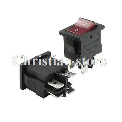 Кулисный переключатель Rocker Switches 6A/12A 250VAC 10 125VAC DPST 2 /4/2 --