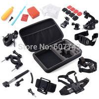 Accessories Set 30in1 Storage Bag/ Chest Strap/Tripod for Gopro Hero 2 3 3+  4 / SJ 4000 5000 Camera