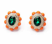 New 2014 Fashion Bijoux Jewery Bright orange joker lady's ear clip accessories Earring For Women Free Shipping JZ100607