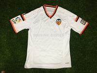 Soccer Jersey Valencia 14 15 JONAS EVER BANEGA CF Valencia Jersey 2015 Valencia 14/15 Home White Away Orange Football Shirt 2014