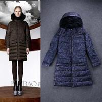 Winter 2014 Long Sleeve Warm Long Down Coat 141011YB02