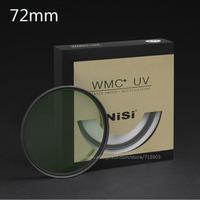 NiSi 72mm WMC UV 13 Layers Muti-Coating Slim Lens Filter Waterproof  72mm Ultra-Thin MC UV For Digital SLR Camera