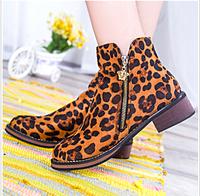 2014 women boots slow heel Side zipper Martin boots hot selling women boots dr7