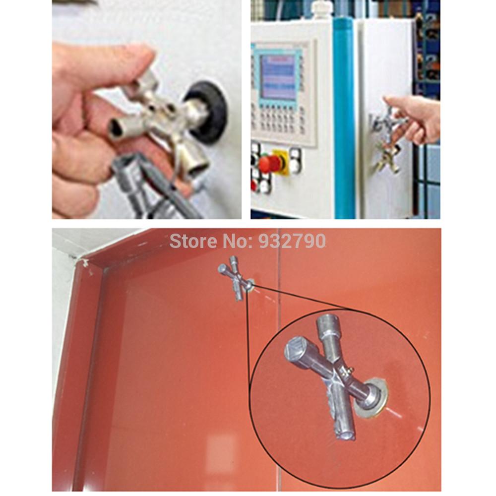 5-Way Utility Key Electric Gas Water Meter Valve Cupboard Cabinets Radiator Bleed Plumbing Tool Plumbers Utilities Cross Keys(China (Mainland))
