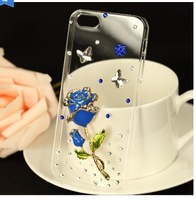 2014 New Rhinestone Diamond Case Back Cover Skin Case Hard Transparent Case For Gionee Elife E3 , Free Shipping