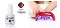 promotion wholesale tnt ship 30sets/lot china nail soak off uv led color gel polish glaze lacquer bulk with 9w mini led lamp