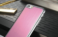 4.7 inch Phone Case For iPhone 6 Brushed Aluminum Back Cover For iPhone 6 ,Hard Back Case For iPhone 6 with electroplate frame