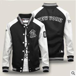 Free Shipping Fashion Winter Jacket Men And Women Wool Baseball PU Sleeve Couple Coat Man Jacet Hot Sale LHNY03(China (Mainland))