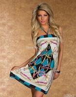 New style women casual dress halter neck beach dress summer dress 2014 vestido de festa