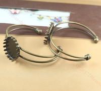 Green ancient bracelet bottom bracket / 25mm Crown prop / DIY retro time gem handmade accessories 65 * 60mm, 25mm prop crown