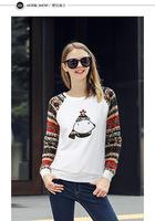 2014 New winter coat Fashion pullovers Plus Size Cute girl sweater bear Printed Hooded Sweatshirt Hoodies Women