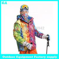 Dropshipping new Brand snow jacket waterproof windproof thermal coat 2014 hiking camping cycling jacket winter ski jacket men
