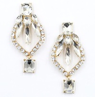 2014 New Arrival design full crystal fashion women statement stud Earrings for women fashion earring Factory Price wholesale