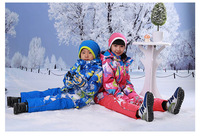Professional ski suit New Winter Children Ski Coat  Jacket Boy Outwear  Warm Coat Hooded Zipper Top Windbreaker