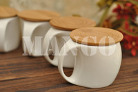 Stylish and Creative Ceramics and Bamboo Cups 6 Pieces Set Decoration Drinkware Craft Accessories for Coffee, Tea and Milk Etc.