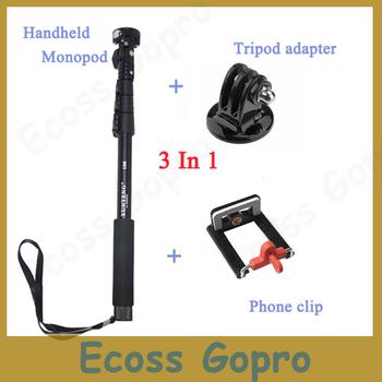 Top Quality Portable Handheld Telescopic Monopod Tripod For Go pro/SJ4000/SJ5000, Cell ...