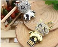 2014 Waterproof creative jewelry, crystal OX rabbit 32g 64g usb2.0 flash drive pen drive