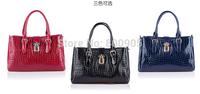 retail New fashional women brighten leather handbags  shoulder  messenger bags , woman casual hand bag