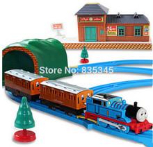 Genuine! Thomas Orbit train electric toys Building Blocks toys Music Trains thomas Eyes Flashing Children Gift Free Shipping(China (Mainland))