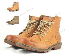 marca real de cuero botines invierno los hombres zapatos botas de vaquero motocicleta masculinas bota al aire libre(China (Mainland))