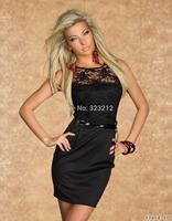 New Fashion Designer Women Casual Dress Sleeveless Lace Office Dress Sexy Mini Dress Vestidos
