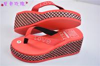 2014 Summer sandal and slippers woman platform flip flops slippers shoes soled slippers women sandals flip-flops