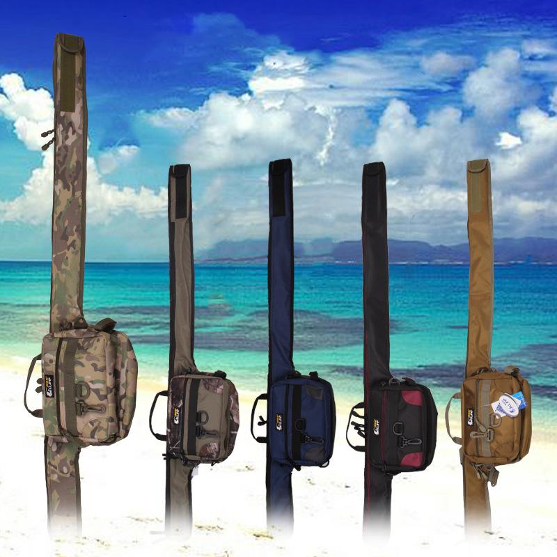 Length 125cm New Hot Fishing Bag Fishing Rod Bag Waist Bag Multi-function Fishing Bag Free Shipping(China (Mainland))