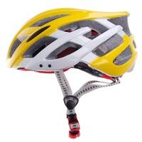 Free Shipping TITANS CG03DG-008 Authentic one piece bicycle helmet   Integrally molded Helmet- Yellow + White
