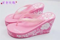 2014 Summer sandal and slippers woman platform flip flops slippers shoes soled slippers women high heels sandals flip-flops
