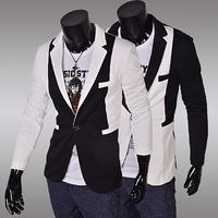 2014 New Arrival Hot Autumn Winter Wild Korean Stylish Slim Fit Men's Fashion Suit Jacket Casual Business Dress Blazers SU75