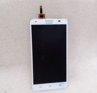 Replacement Parts Assembly LCD Display + Touch Screen Digitizer Ecran Pantalla for Huawei Honor 3X G750 white Free shipping