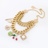 Min.order is $10 (mix order),European and American fashion metal exaggerated geometric Necklace.