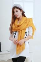 1pc 100*200cm Big Size Elegant fashion design gold dust Solid color viscose scarf shawl with tassel/WJ-174