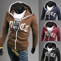 Free Shipping 2014 New Hot Autumn Man Fashion Sports Hoodies Sweatshirts Top Brand Men's Clothing Cotton Korean Slim Style WY36