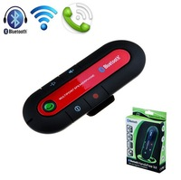 3 colors Wireless HandsFree Car Kit for Mobile Phone Bluetooth Hands Free for iPhone 5 5S 6 Free shipping